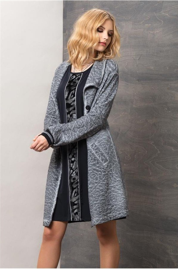 Maloka: Rose Imprinted Cotton Coat Passion (More Colors!) MK_TONI