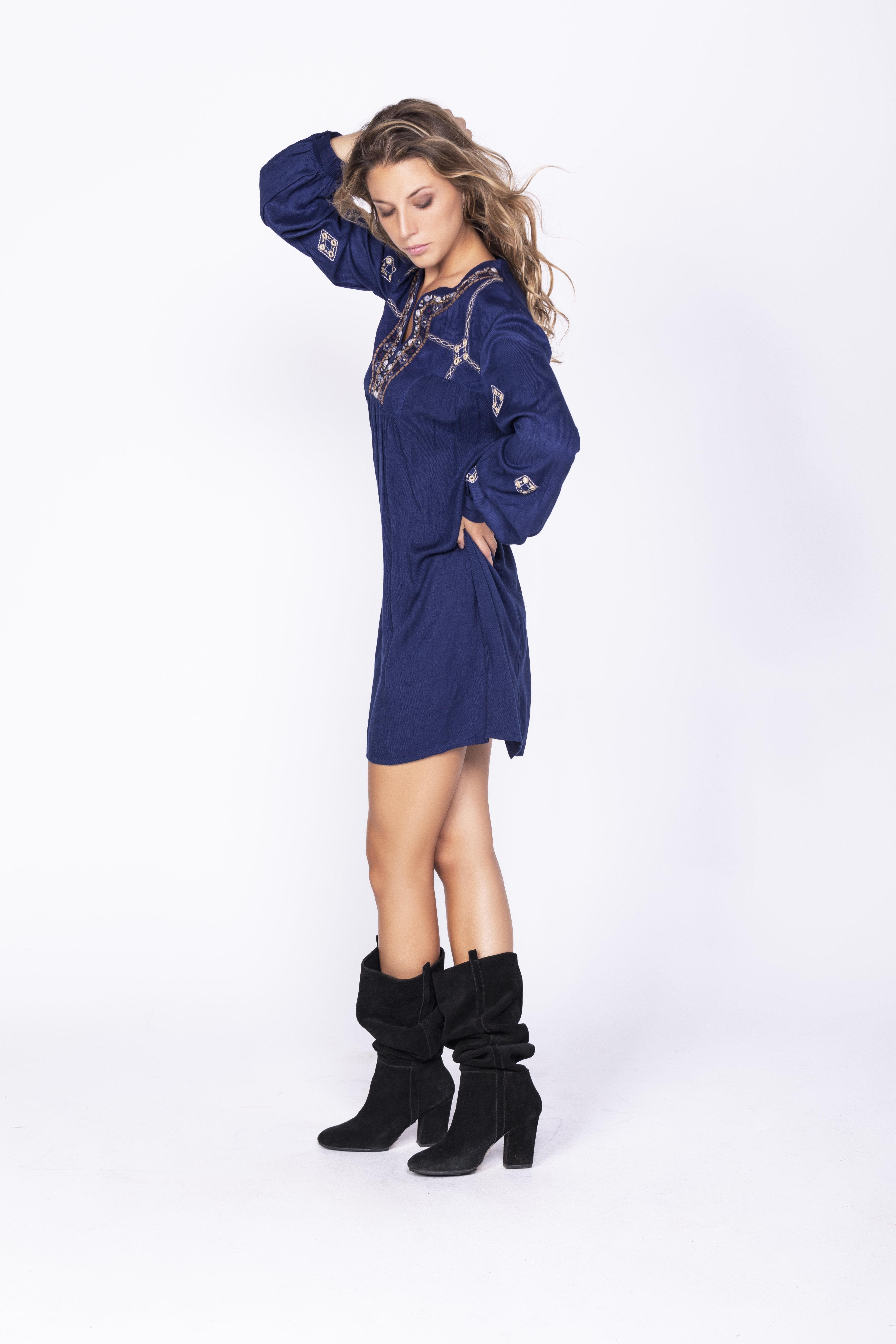 Savage Culture: Little Blue Empire Dress Gomti