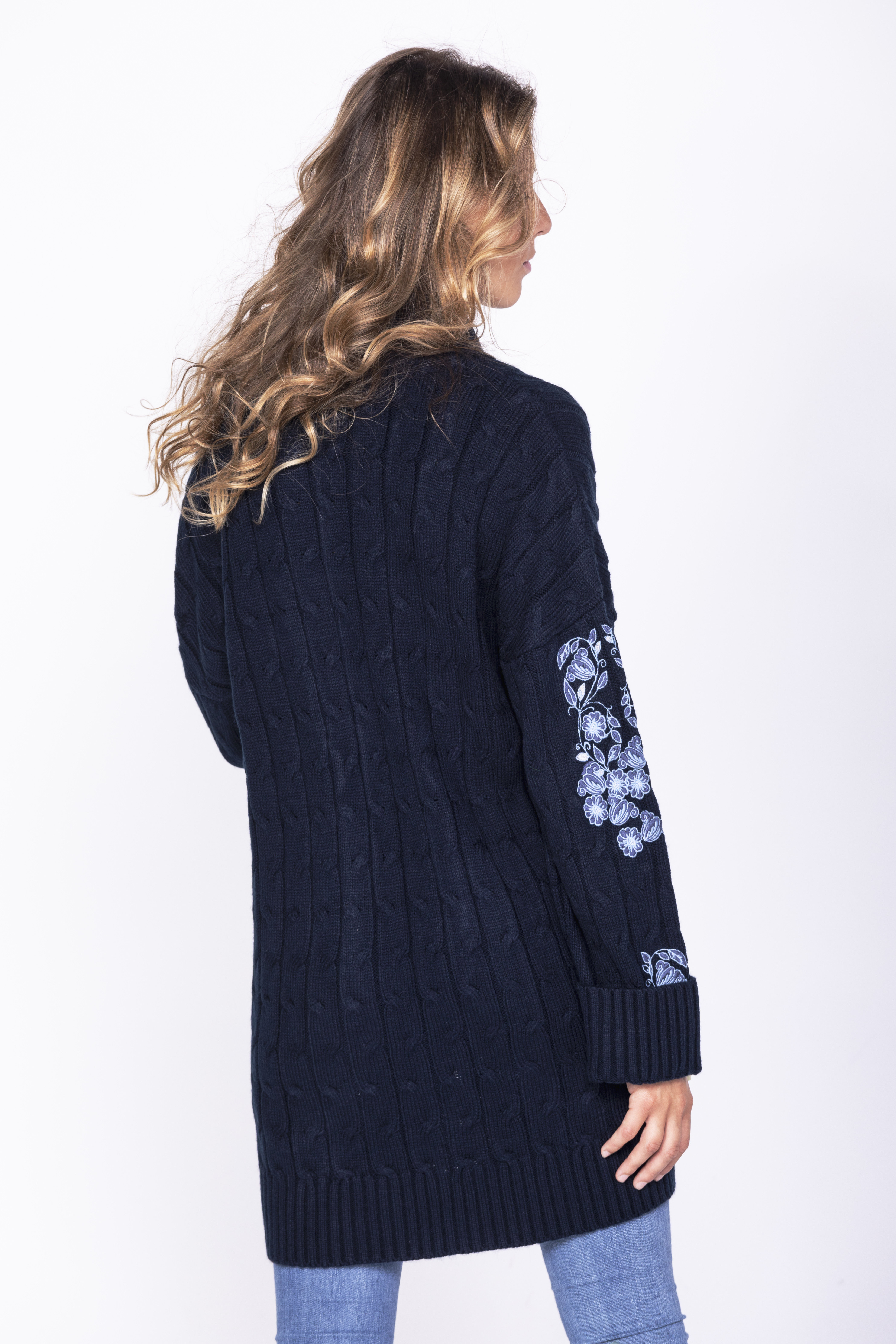 Savage Culture: Embroidered Swivel Sweater Coat Omsk