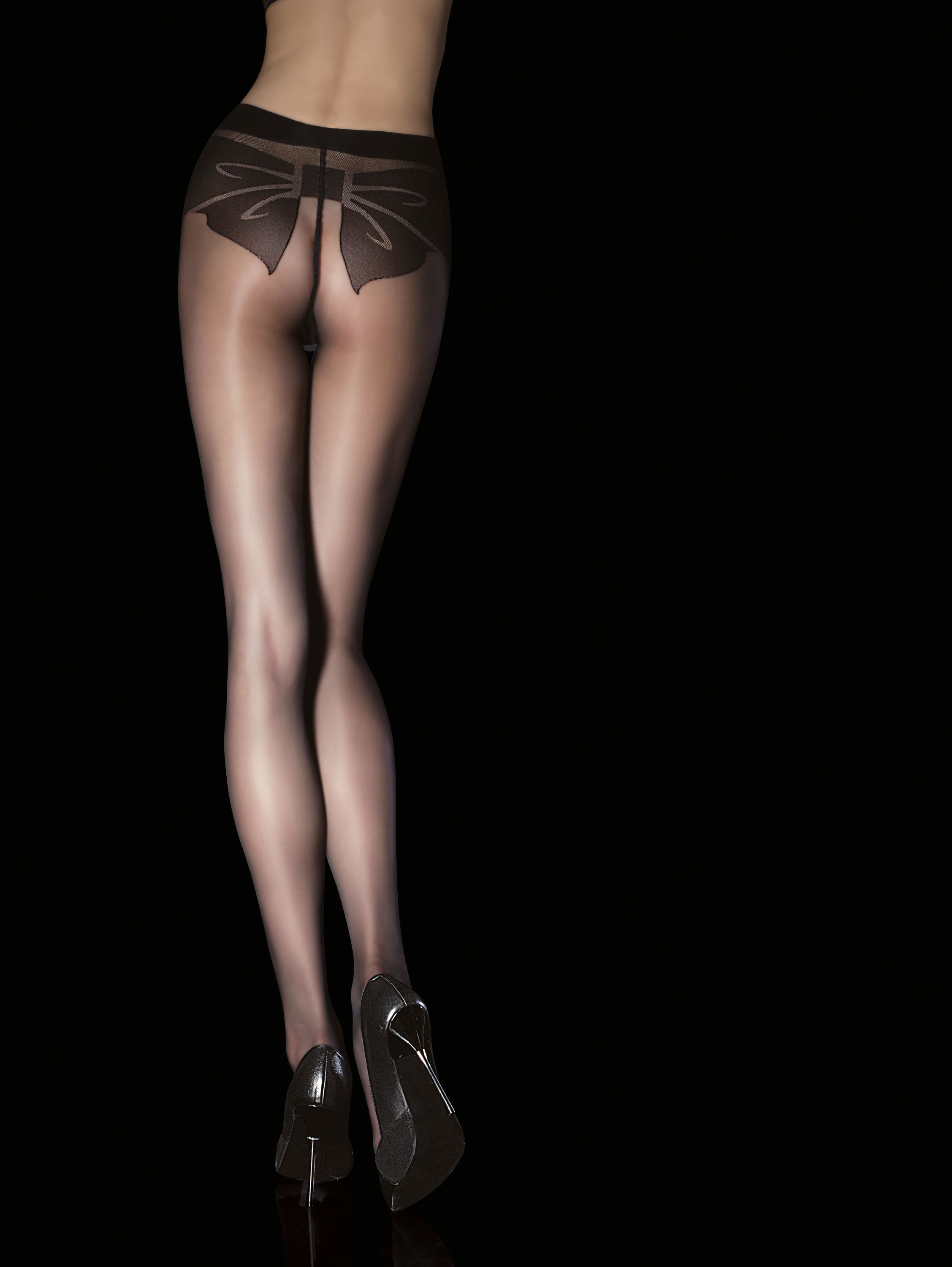 Fiore: Fancy Bow My Derriere Sexy Patterned Tights (1 Left!) FIO_SHAYA_N
