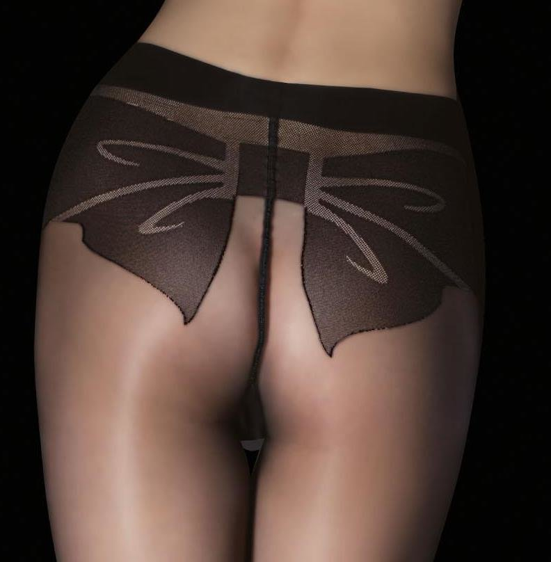 Fiore: Fancy Bow My Derriere Sexy Patterned Tights (1 Left!)