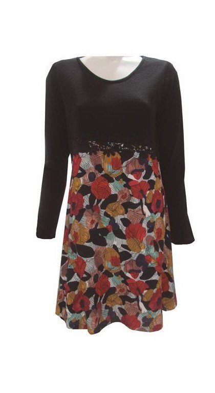 Maloka: Colors Of Autumn Leaves Asymmetrical Jacquard Midi Dress