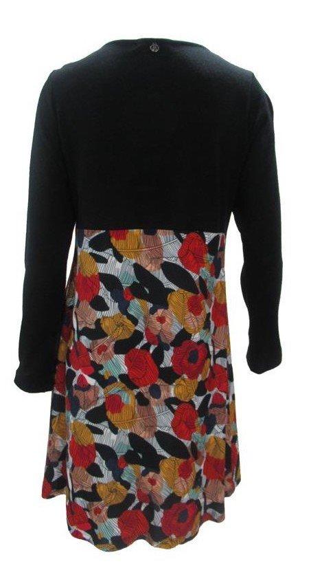 Maloka: Colors Of Autumn Leaves Asymmetrical Jacquard Midi Dress