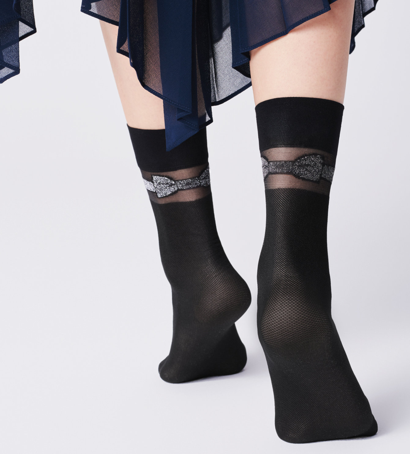 Fiore: Beauty Bow Patterned Socks SOLD OUT FIO_ITALIANA