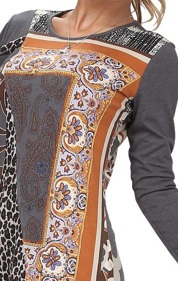 S'Quise Paris: Fancy Foulard Patchwork Tunic