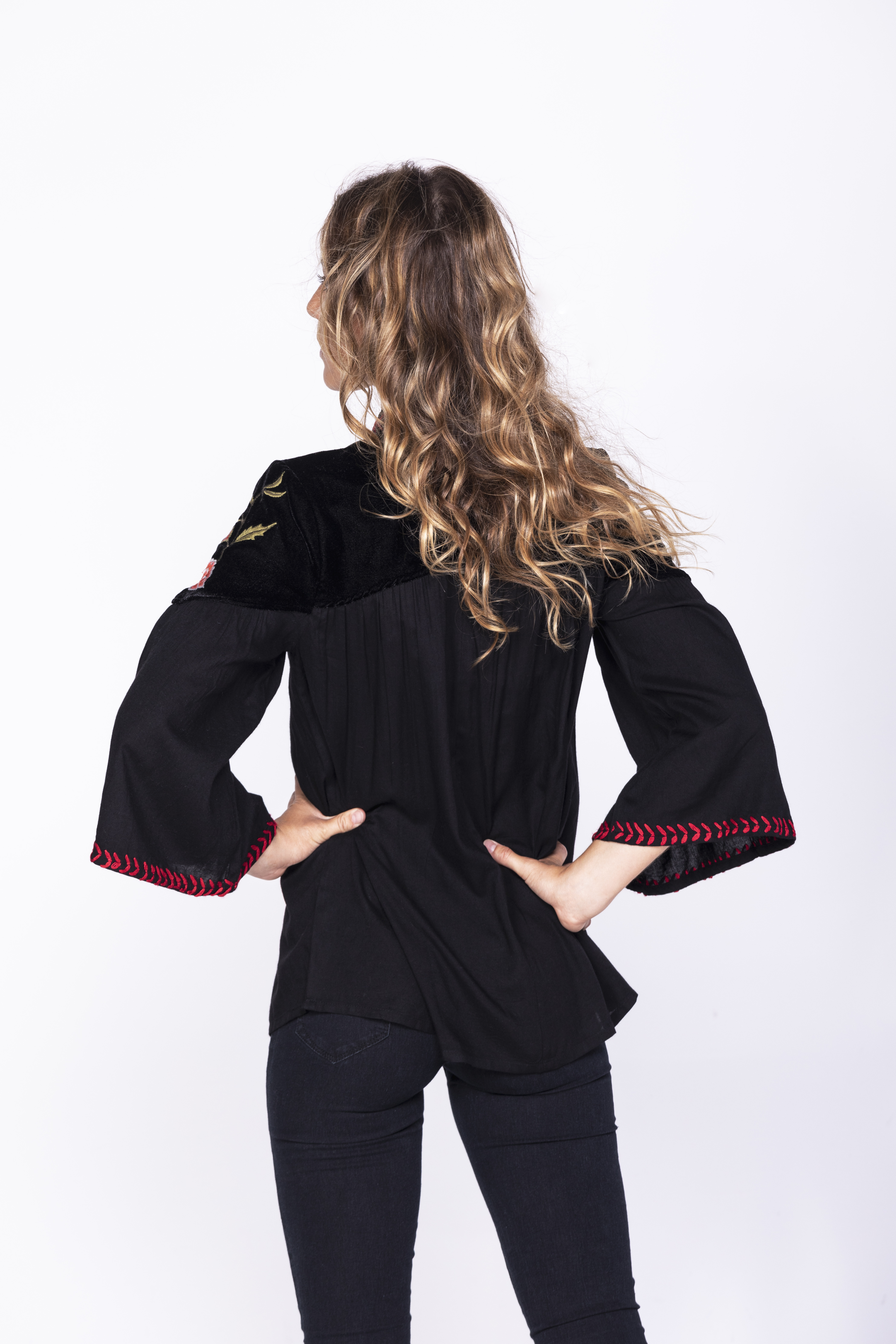 Savage Culture: Rosette Puff Sleeve Tunic
