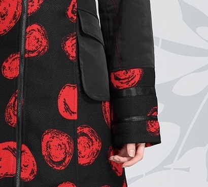 L33 Paris: Abstract Rosette Long Coat