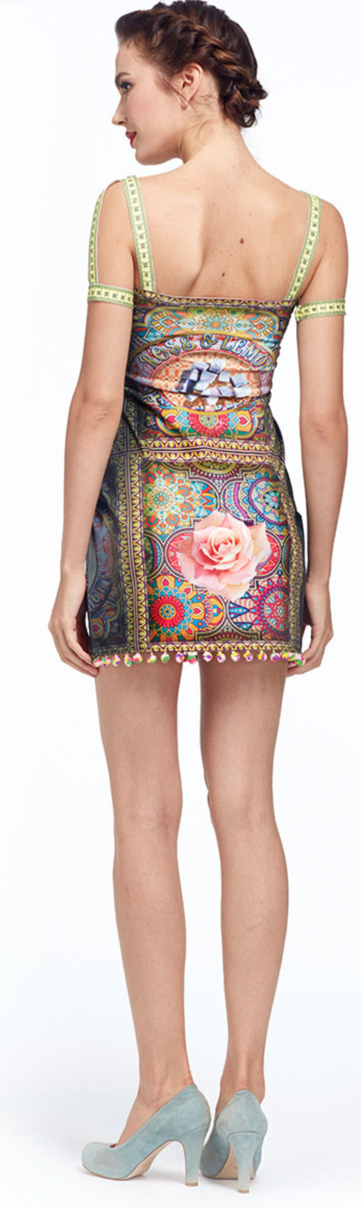 IPNG: Pink Lotus Pom Pom Illusion Mini Dress/Tunic