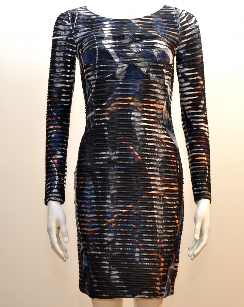 Eroke Italy: Crinkled Lightning Storm Dress (1 Left!)