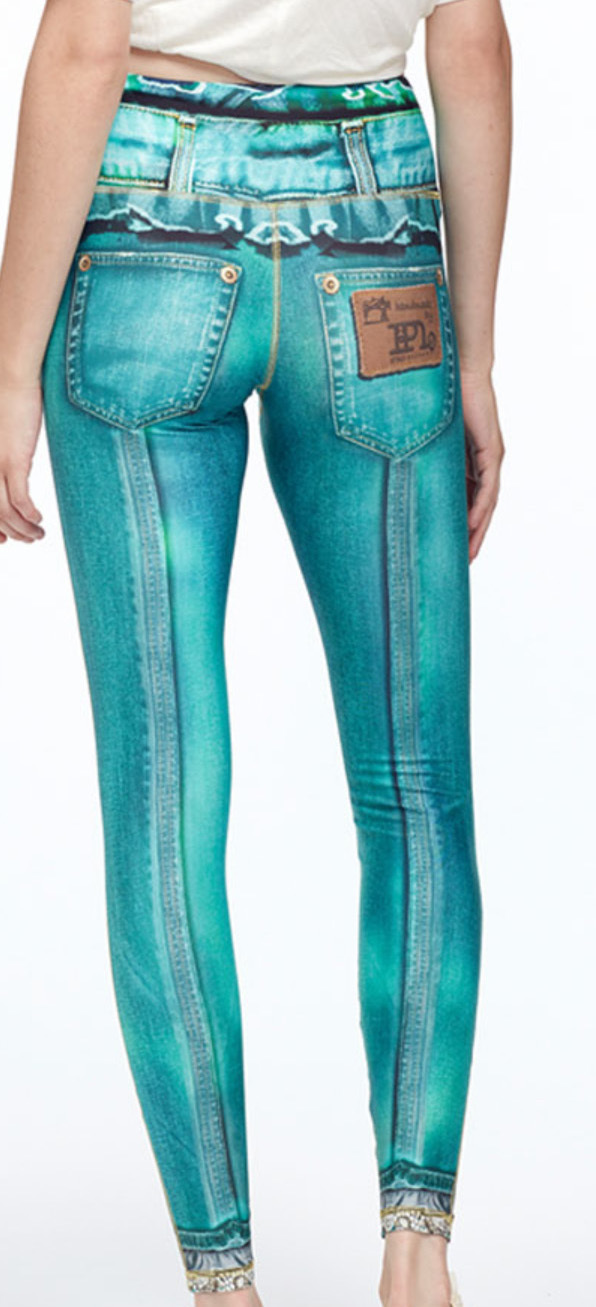 IPNG: Love Me Criss Cross Denim Illusion Legging (Many Colors!)