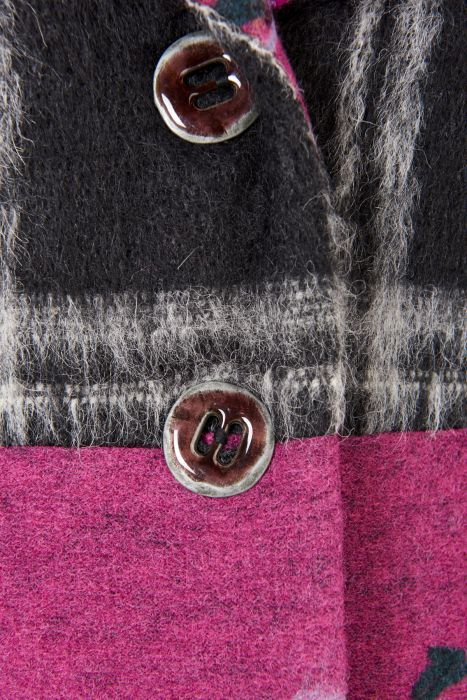 Save The Queen: Forever Fuschia Wool Short Coat