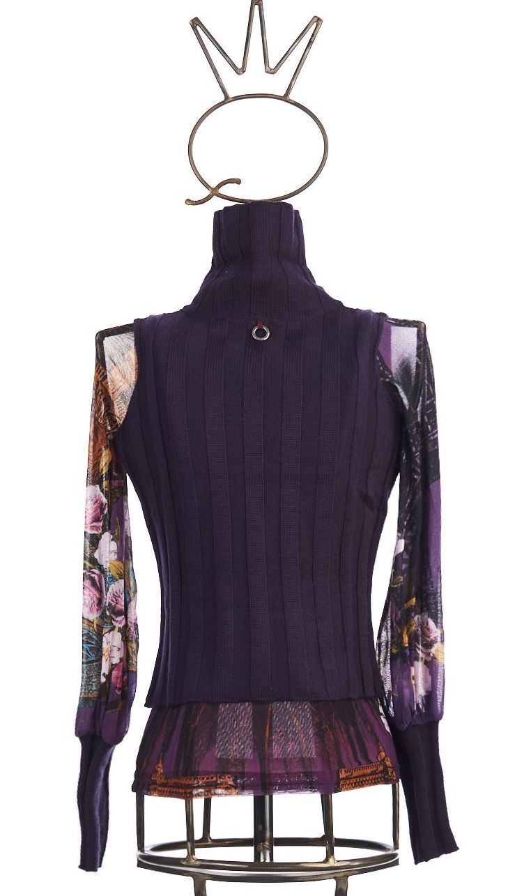 Save The Queen: Poudre Purple Rose Bodice Sweater Tunic (2 Left!)