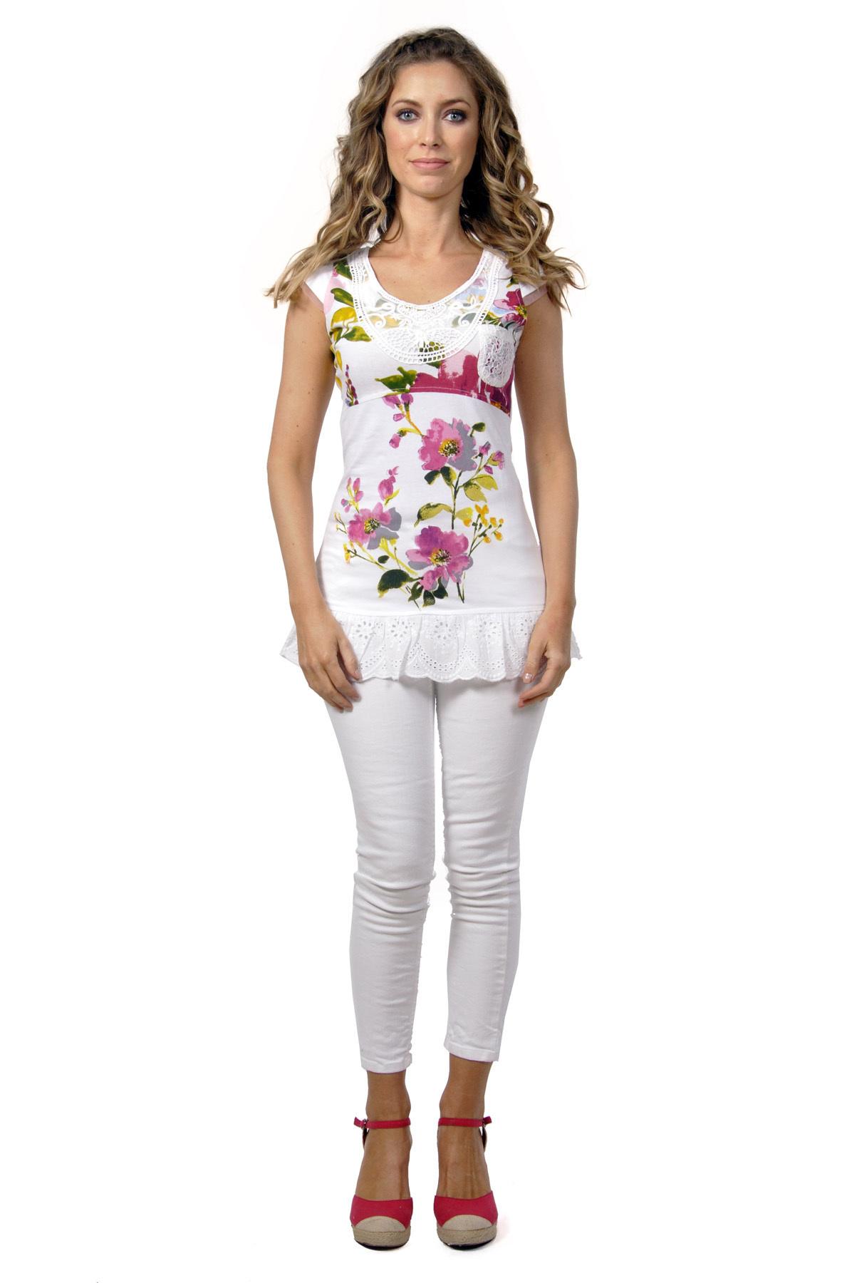 Savage Culture: Pink Fuchsia Bloom Pocket Tunic Roberta SAVAGE_30150