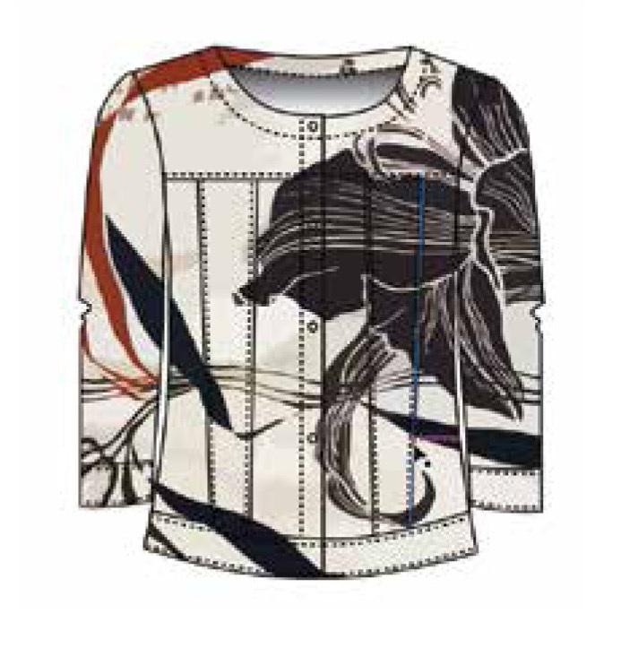 Maloka: Black Lily Sketch Art Soft Linen Jacket SOLD OUT