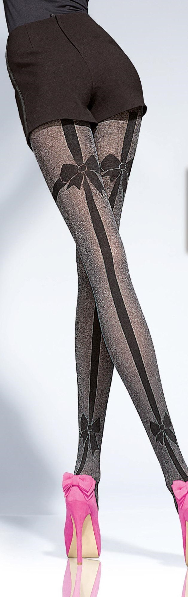 Fiore: Sexy Little Bow Tights (Only Choco Left!!) FIO_DELMINA