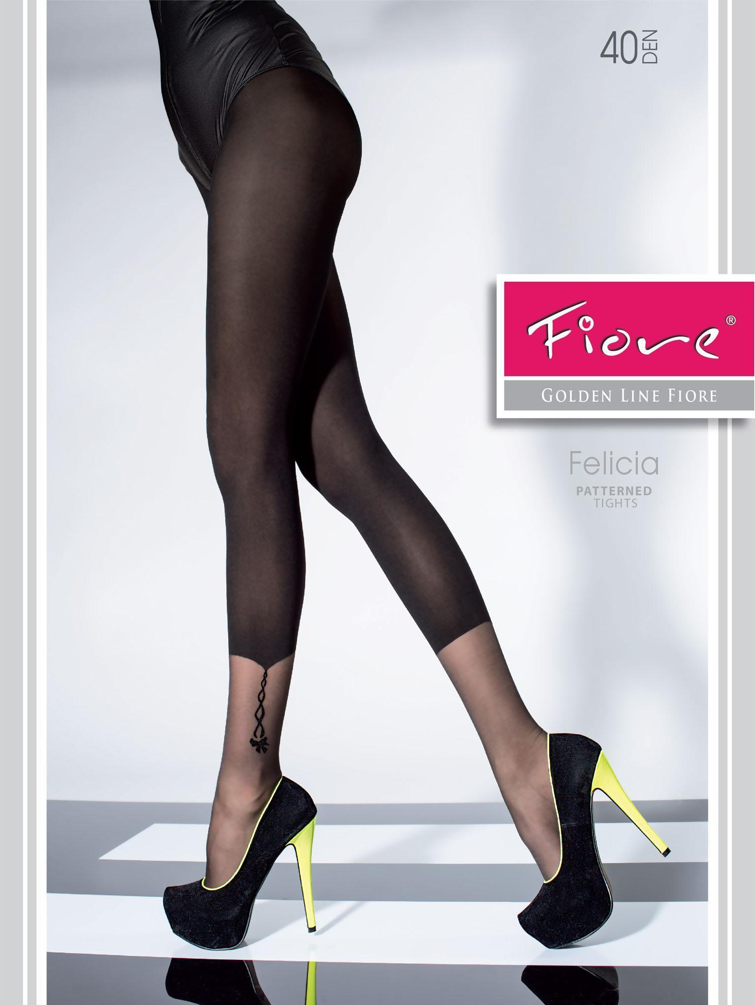 Fiore: Bejeweled Ankle Semi Opaque Tights SOLD OUT