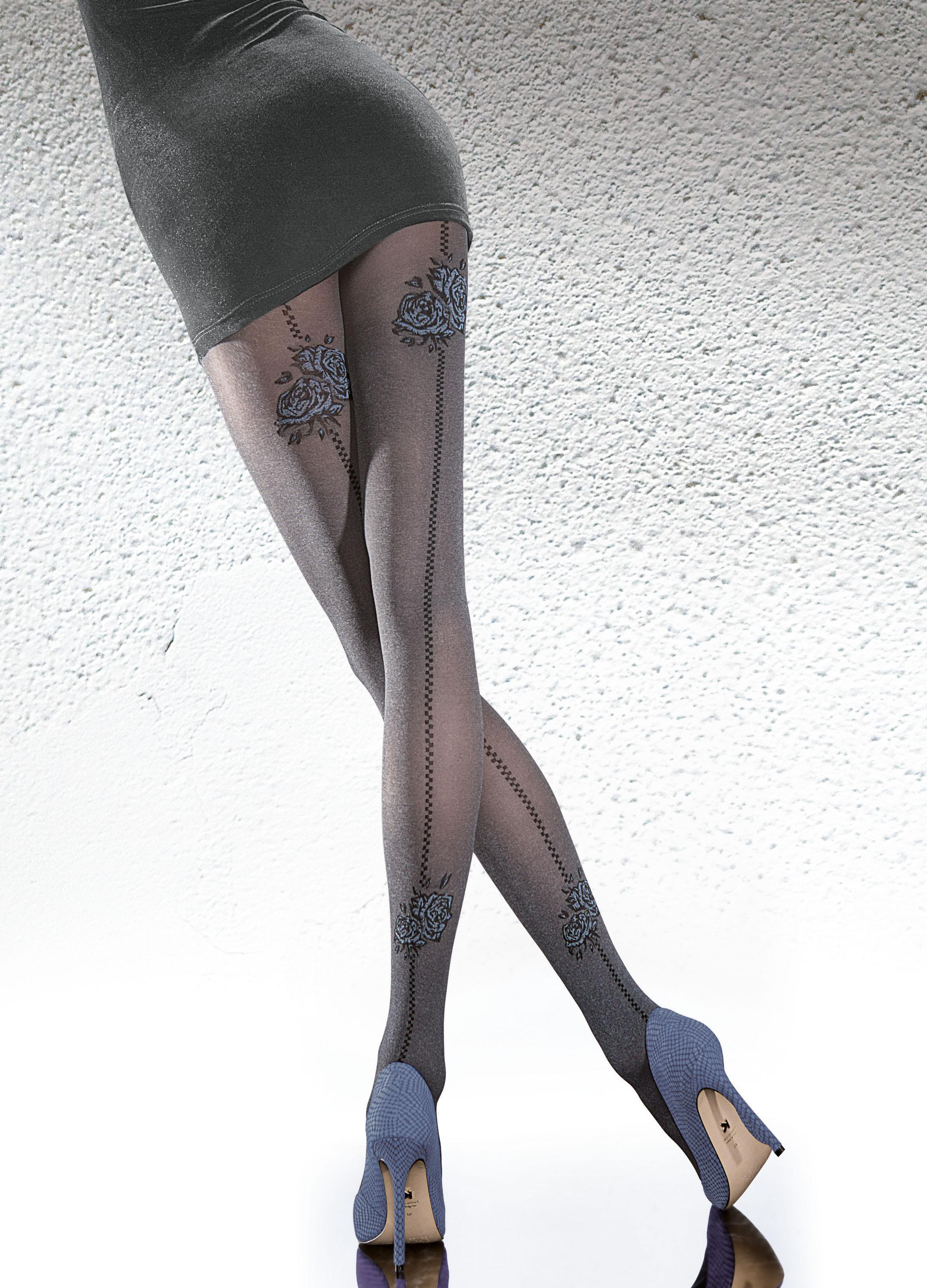 Fiore: Blue Rose Romance Melange Tights SOLD OUT FIO_MERIA