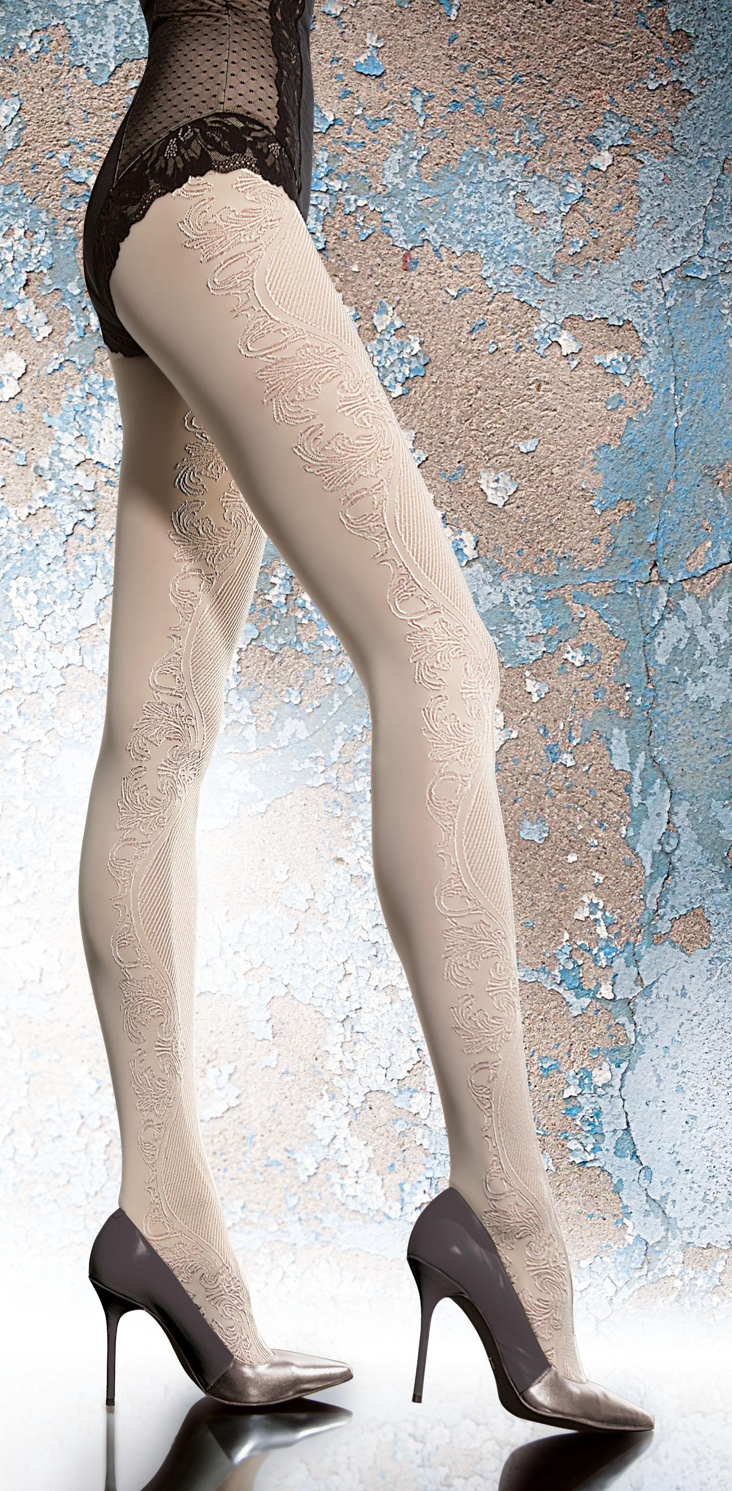 Fiore: Delicious Creme Brulee 3D Microfibre Tights SOLD OUT FIO_ARTEMA