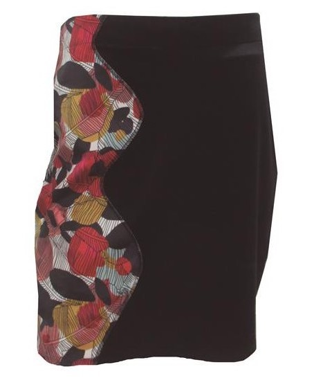 Maloka: Colors Of Autumn Leaves Asymmetrical Mini Skirt