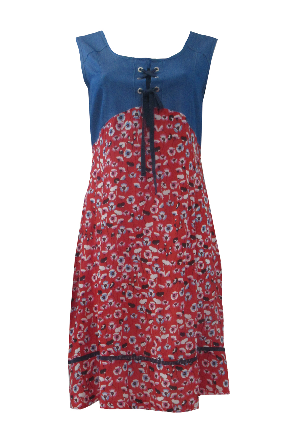 Maloka: Tied Bodice High Waisted Blooming Dress