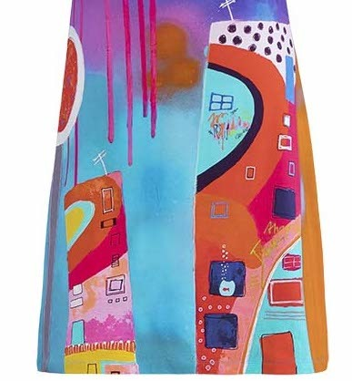 Simply Art Dolcezza: Fuschia Paint Spill Flared Sundress (1 Left!)