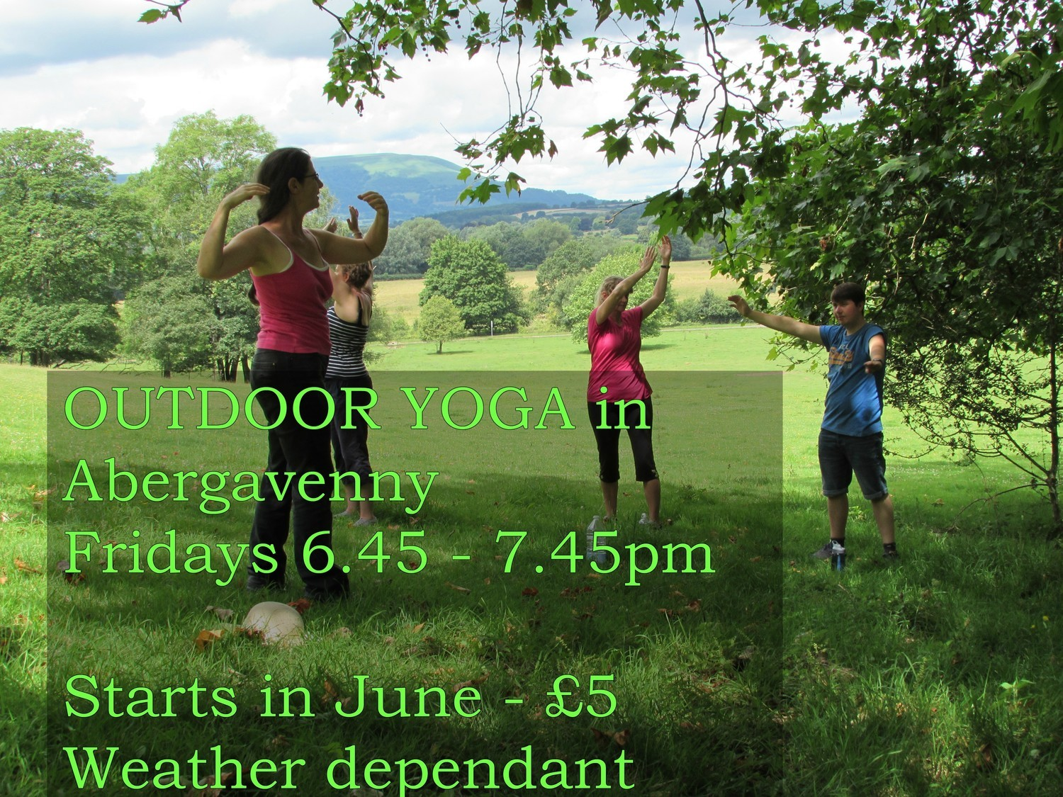Fridays Outdoor Yoga - Abergavenny
