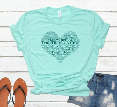 Teal Heart Word Art