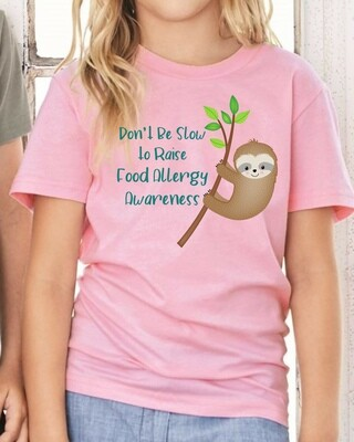 Sloth Don't Be Slow: Food Allergy Awareness