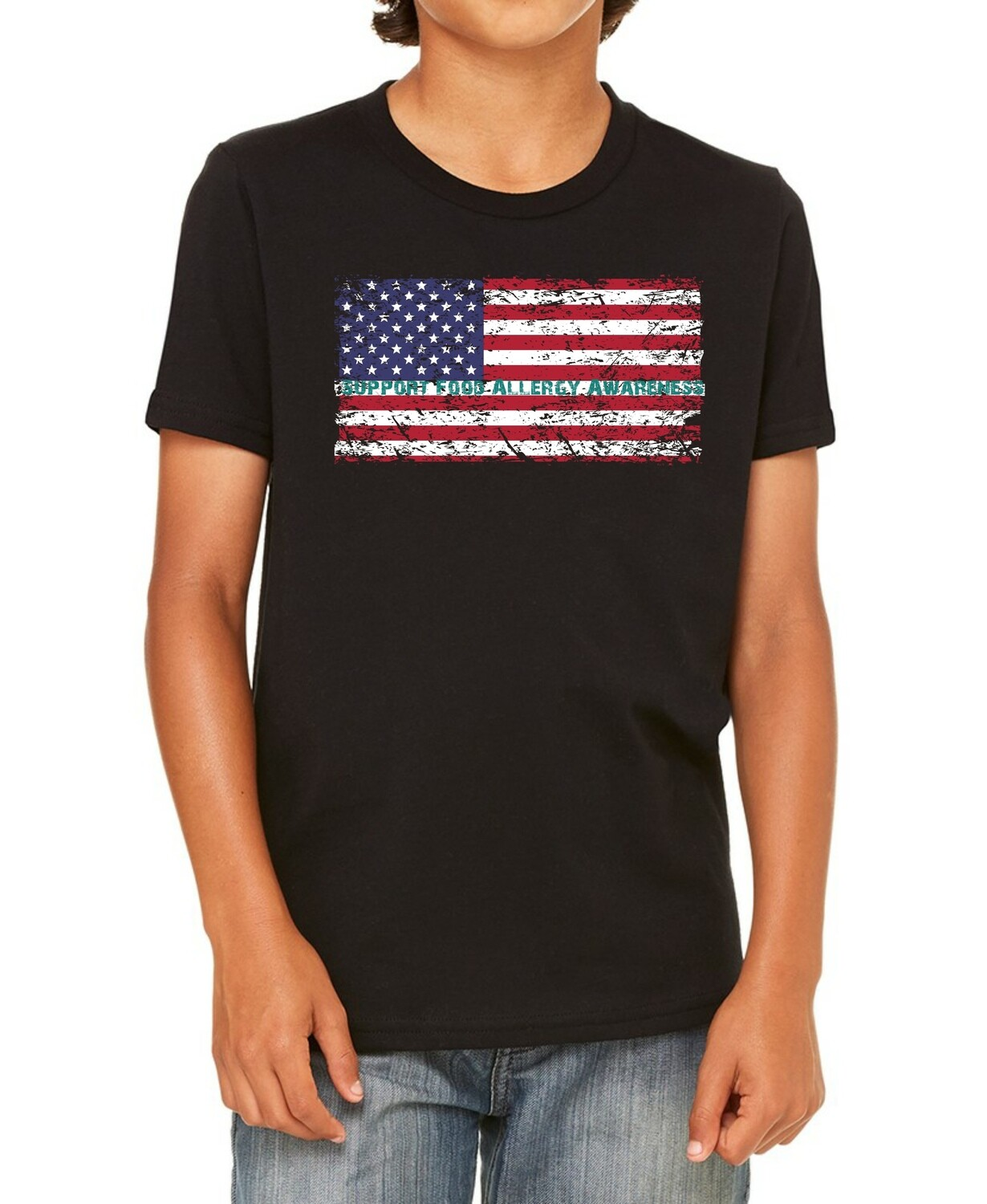 American Flag: Support Food Allergy Awareness