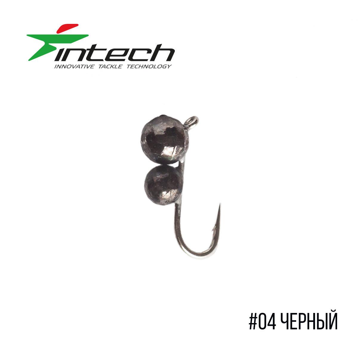 Мормышка Intech Ice Jig Муравей с петелькой (мелкая грань) ø3.0*2.5 (10шт)