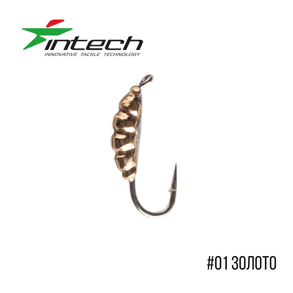 Мормышка Intech Ice Jig Личинка с петелькой L5.0 (10шт)
