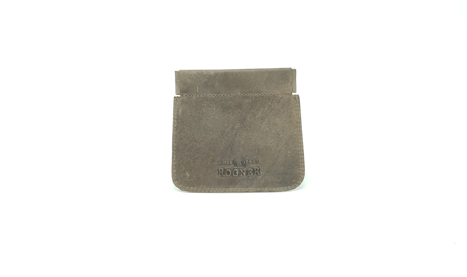 Leather coin case with clip