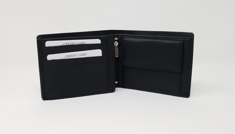 Men's wallet calf leather classic look