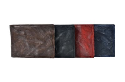 Men's wallet, crunchy look