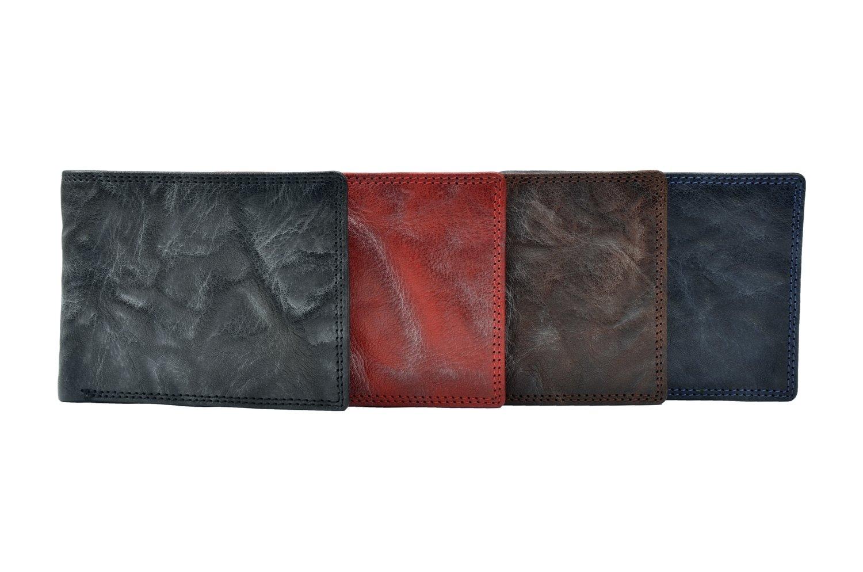 Men's wallet, crunchy look