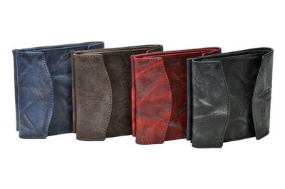 Men´s money clip wallet, crunchy look