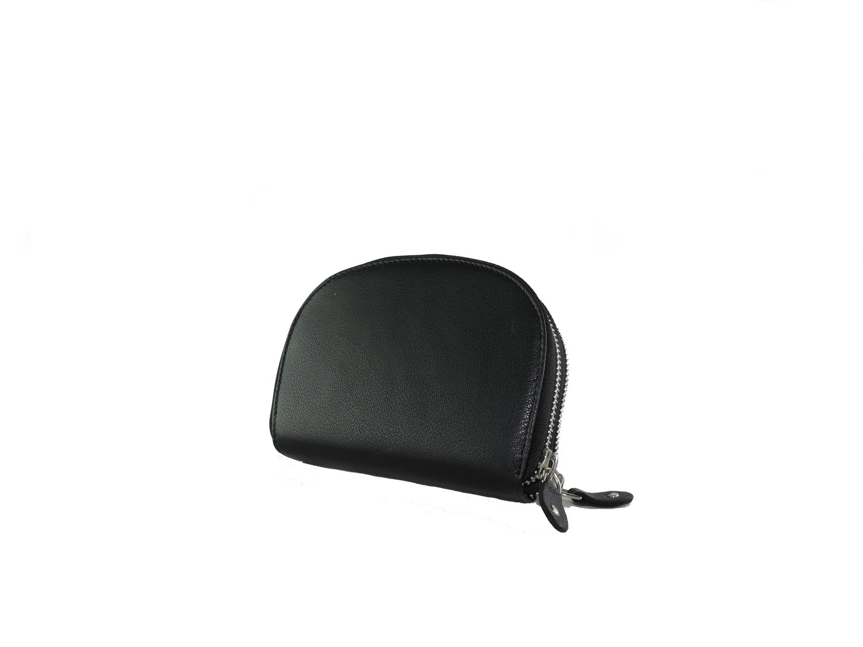 Double-zipper woman purse