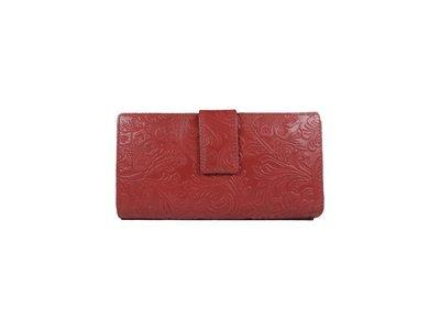 Women's purse, flower print, L-size, double