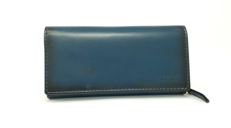 Women's purse, jeans leather, L-size