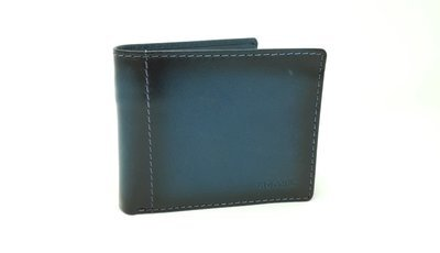 Men's wallet, jeans leather, with zipped pocket inside