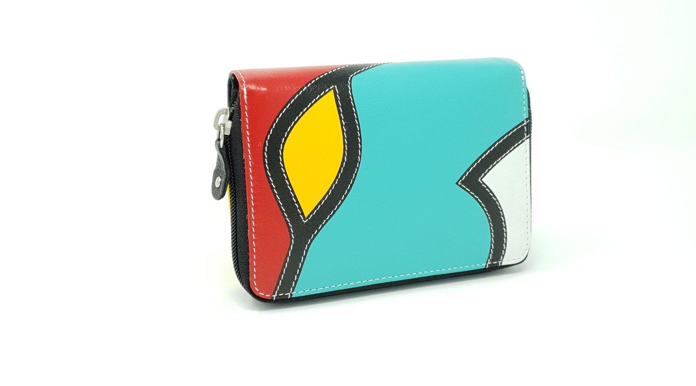 Women's purse zipper, pop-art style, S-size