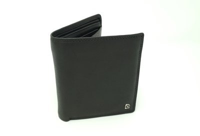 Men's wallet with clip, calf leather