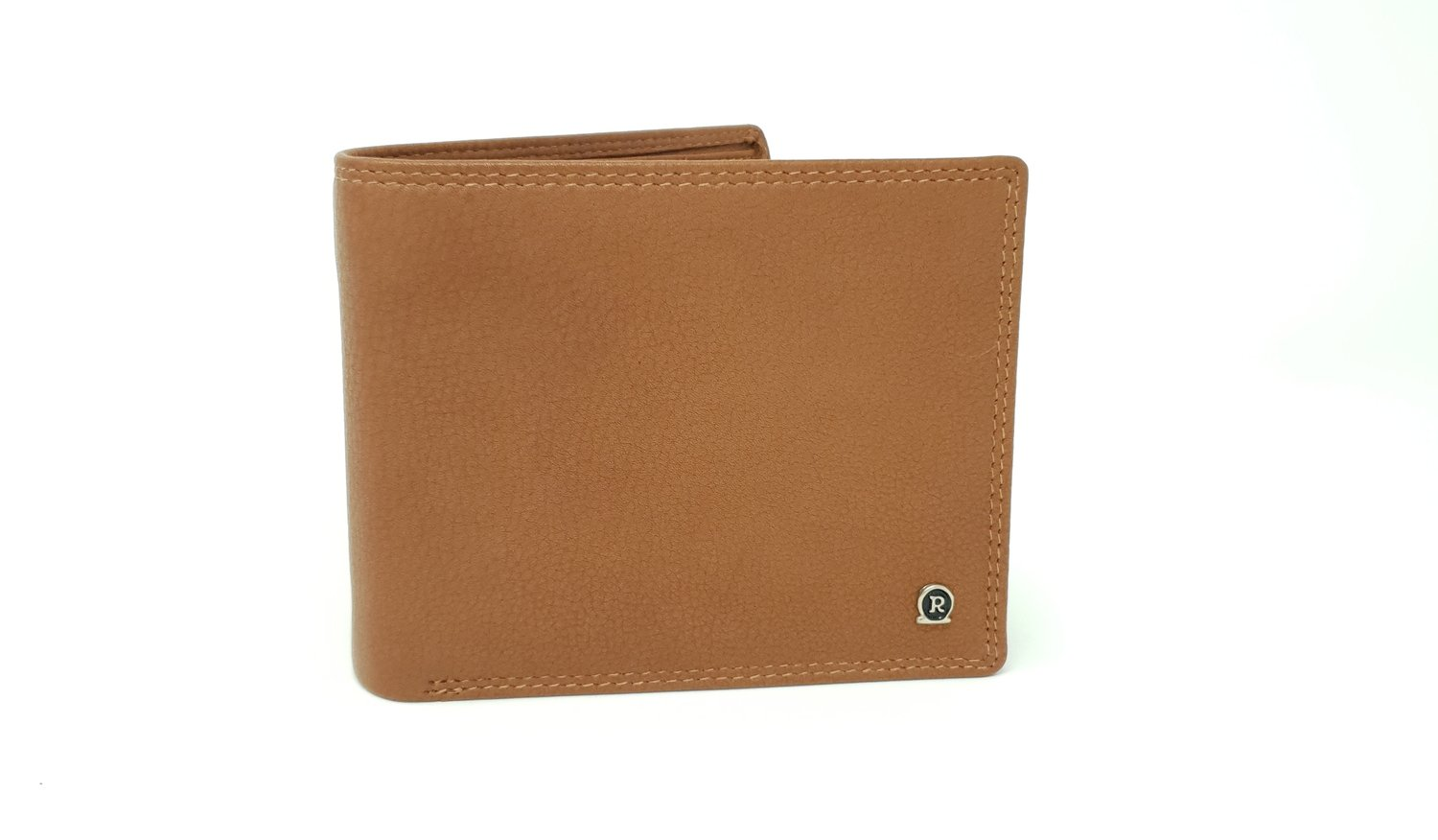 Men's wallet classic, brown calf leather
