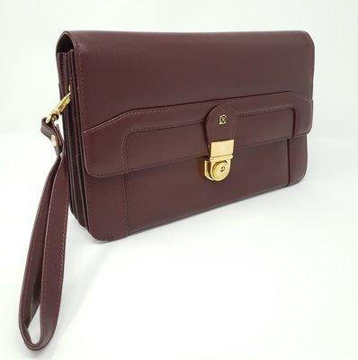 Men's business bag classic superior, bordeaux