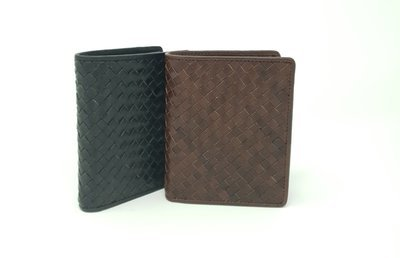 Men's wallet braided leather style