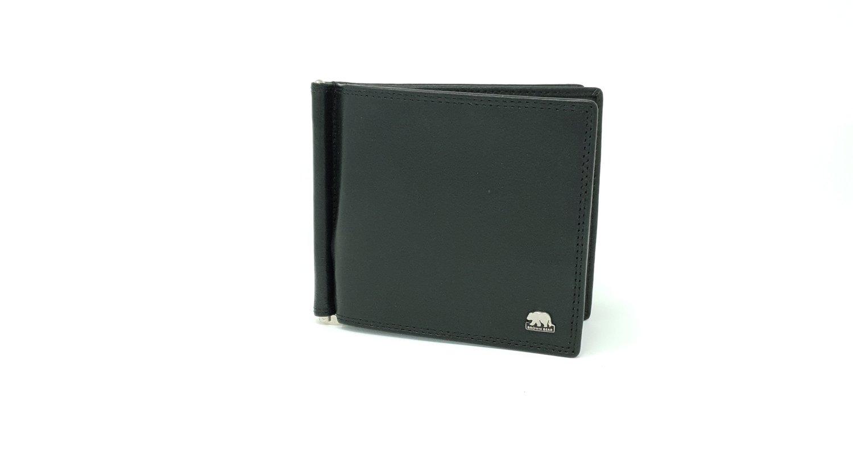 Men's classic wallet, Brown Bear line with money clip