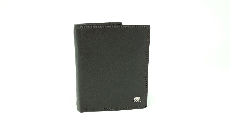 Men's wallet with inside loop, Brown Bear line
