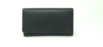 Calf leather waiter wallet with zip outside