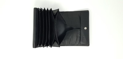 Calf leather waiter wallet with two compartments outside