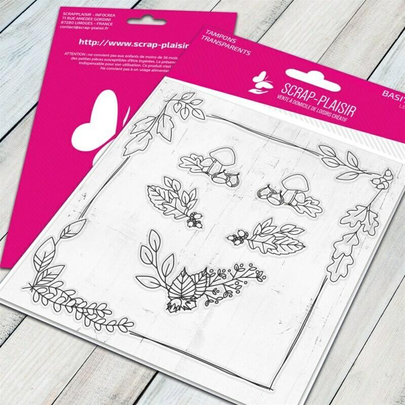 Set de tampons clear automne - 10x10,5cm